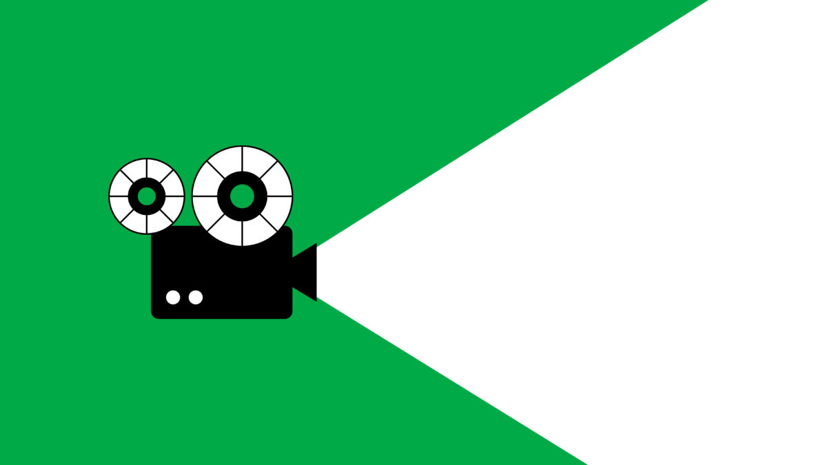 projector on a green background