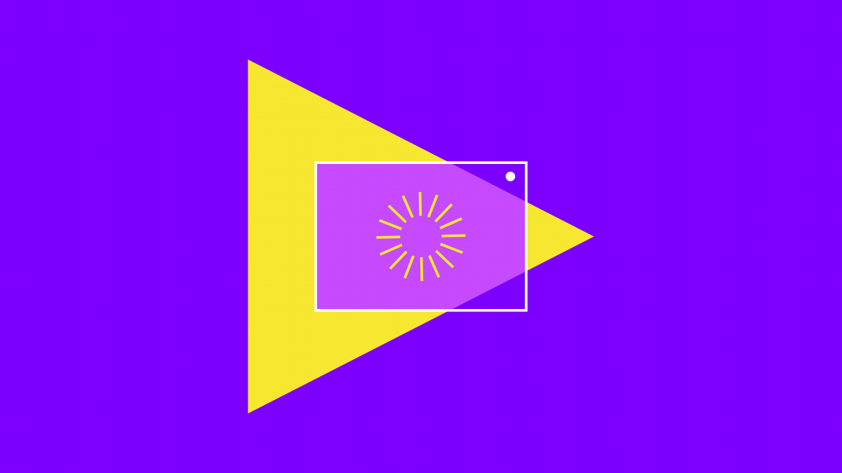 rays in a square and triangle for church streaming software