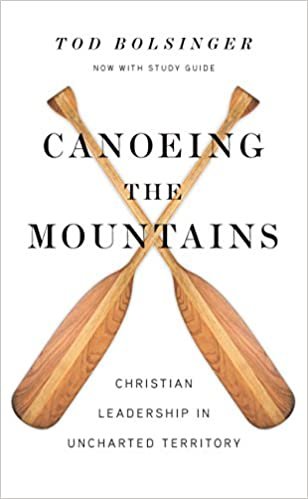 Canoeing the Mountains Book Cover for church leadership books