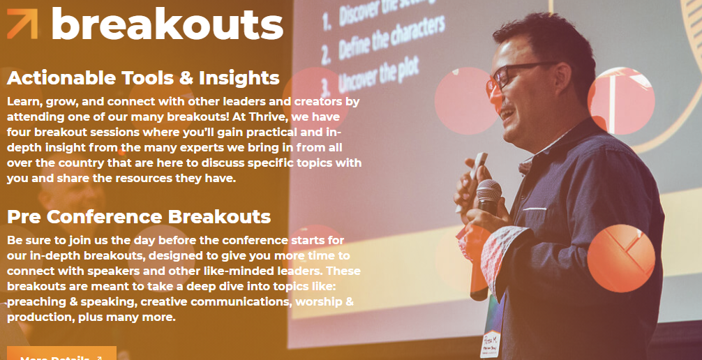 Thrive NorCal Conference Screenshot